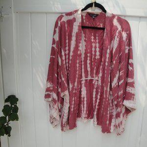 Style Envy Rayon Boho Tie -Dye Kimono L-XL